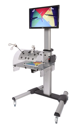 Laparoscopic Training station with movable stand